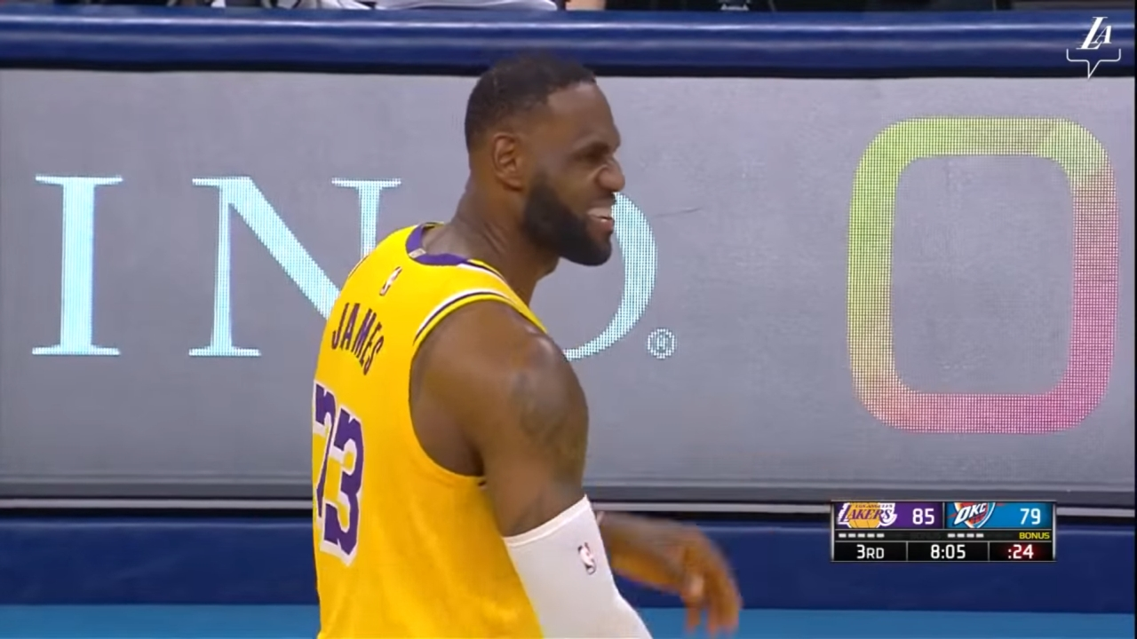LeBron James. Mat. YouTube / Los Angeles Lakers